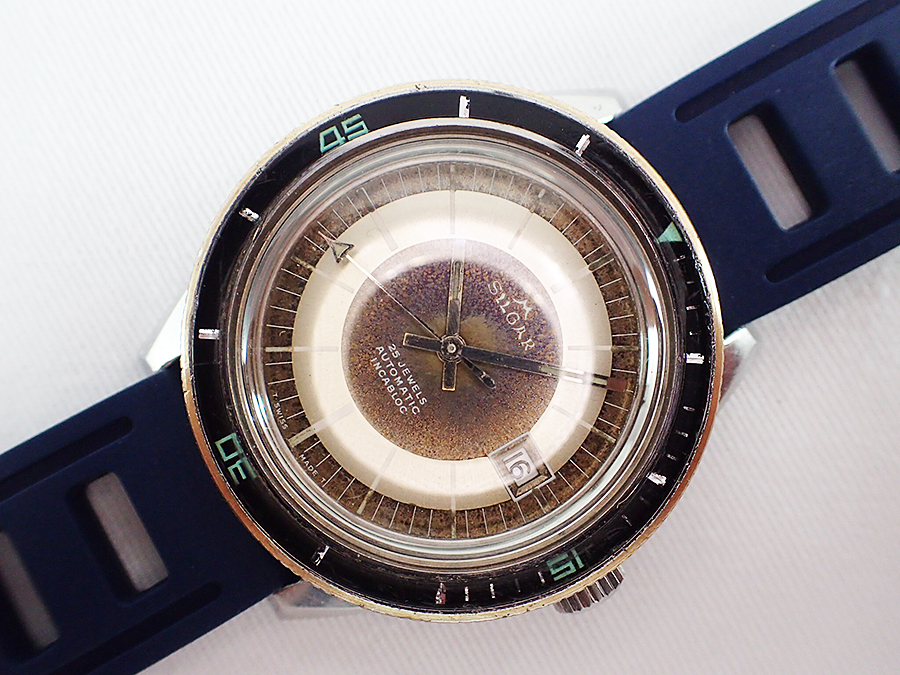 2ed21c72fdd 1960 s SILGAR  Watex Watch Co. SA  20ATU Steel Diver 25j ETA Cal ...