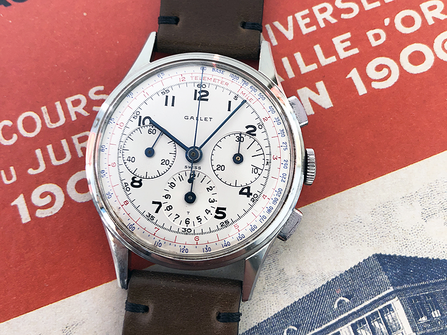 Gallet (Swiss) Vintage M12 Multichron Chronograph Watch – EP