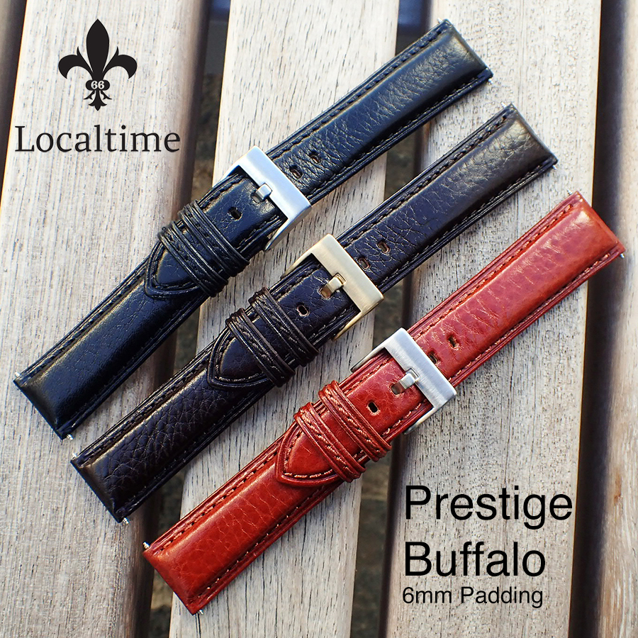 Localtime Super Prestige Italian Buffalo Calf 6mm Padding Semi-Shine Watch Strap 18mm – 24mm