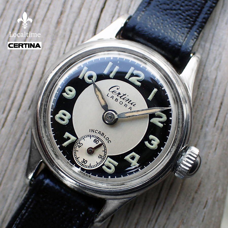Circa 1948 CERTINA (Swiss) 'Labora' Bullseye-Dial Ladies Dress Watch – 15j Certina Cal. KF340