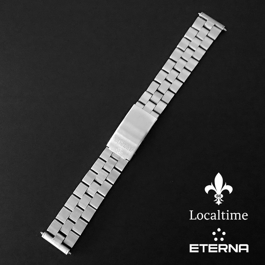 18mm 1960's ETERNA (Swiss) Stainless Steel Watch Bracelet Full Length Stunning Condition