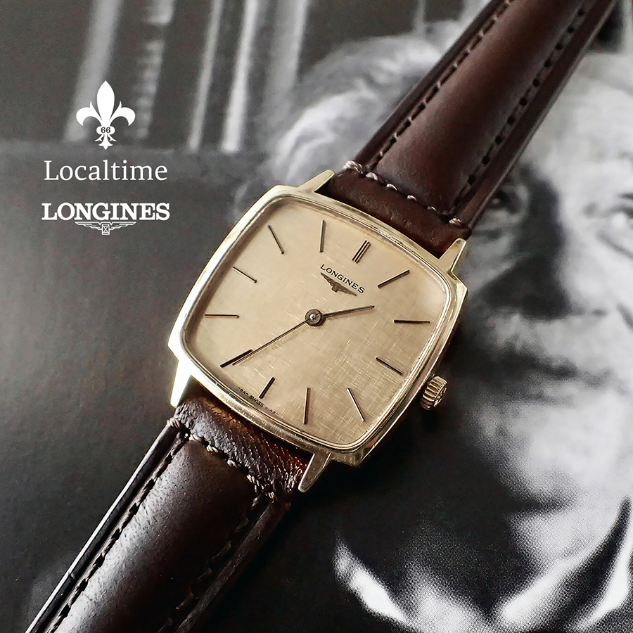 1976 LONGINES (Swiss) Ref. 4142 Flagship Collection Linen Dial Dress Watch – 17j Longines Cal. 847