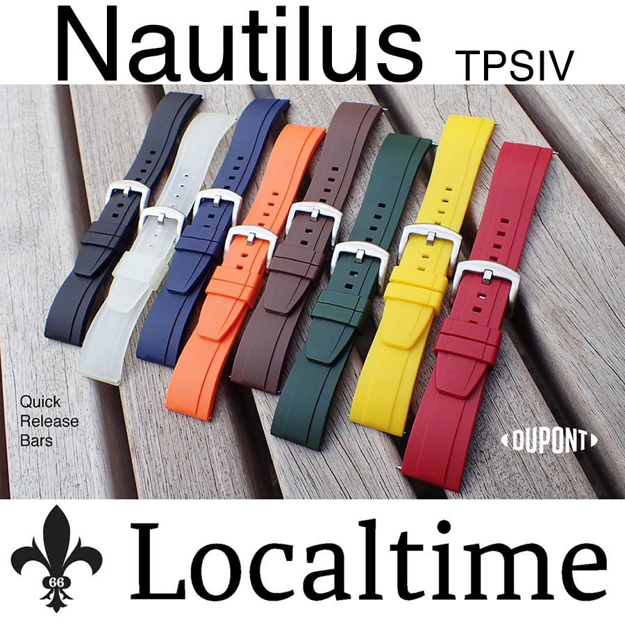 New! TPSIV Rubber NAUTILUS Quick Release Watch Dive Strap Band 20-22-24mm – 8 Colours
