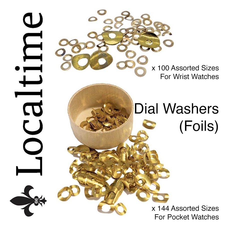 New Assorted Size-Pack Wrist Watch & Pocket Watch Dial Washers (Foils) Watch Service Part