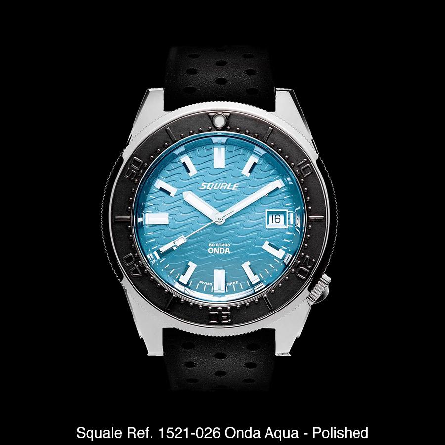 BNIB SQUALE Ref. 1521-026 Onda Aqua 50ATM 500m 42mm Diving Watch ETA Cal. 2824 With Date