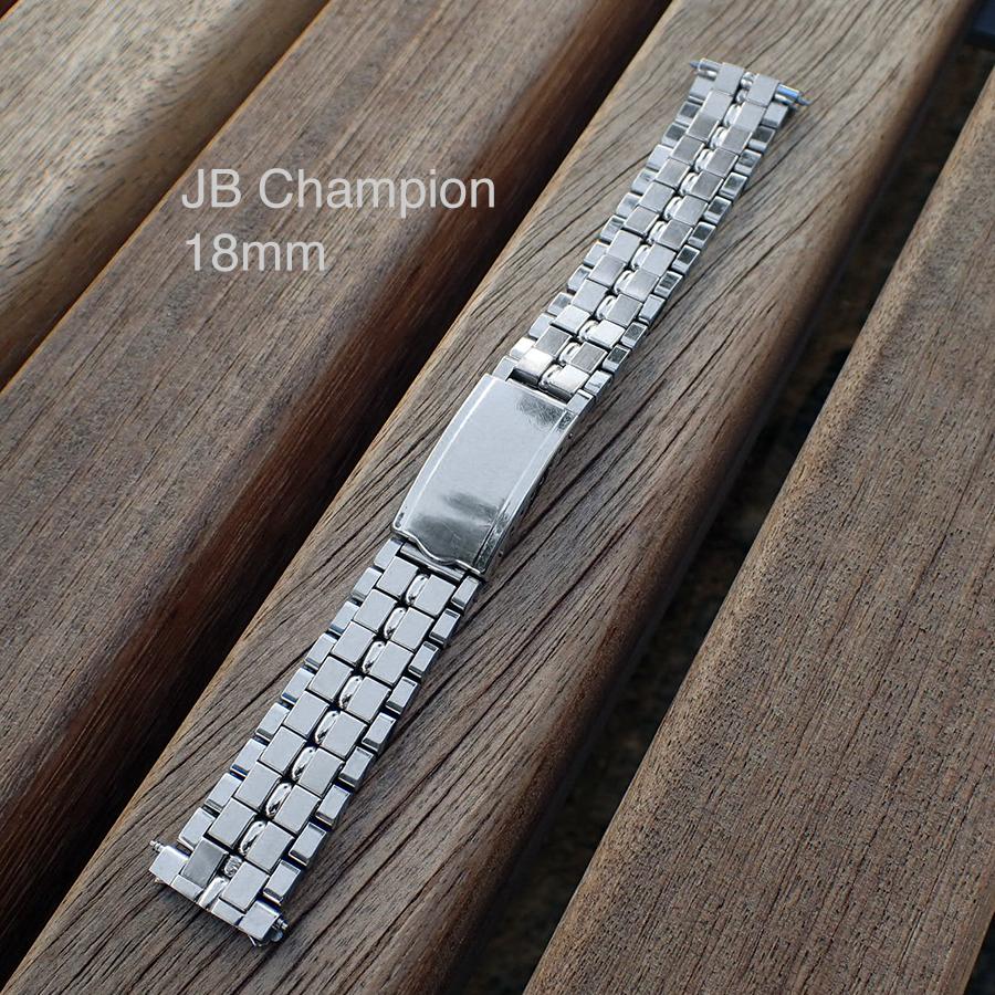 18mm JB CHAMPION (USA) Vintage Stainless Steel Watch Bracelet – Length 17cm/24cm