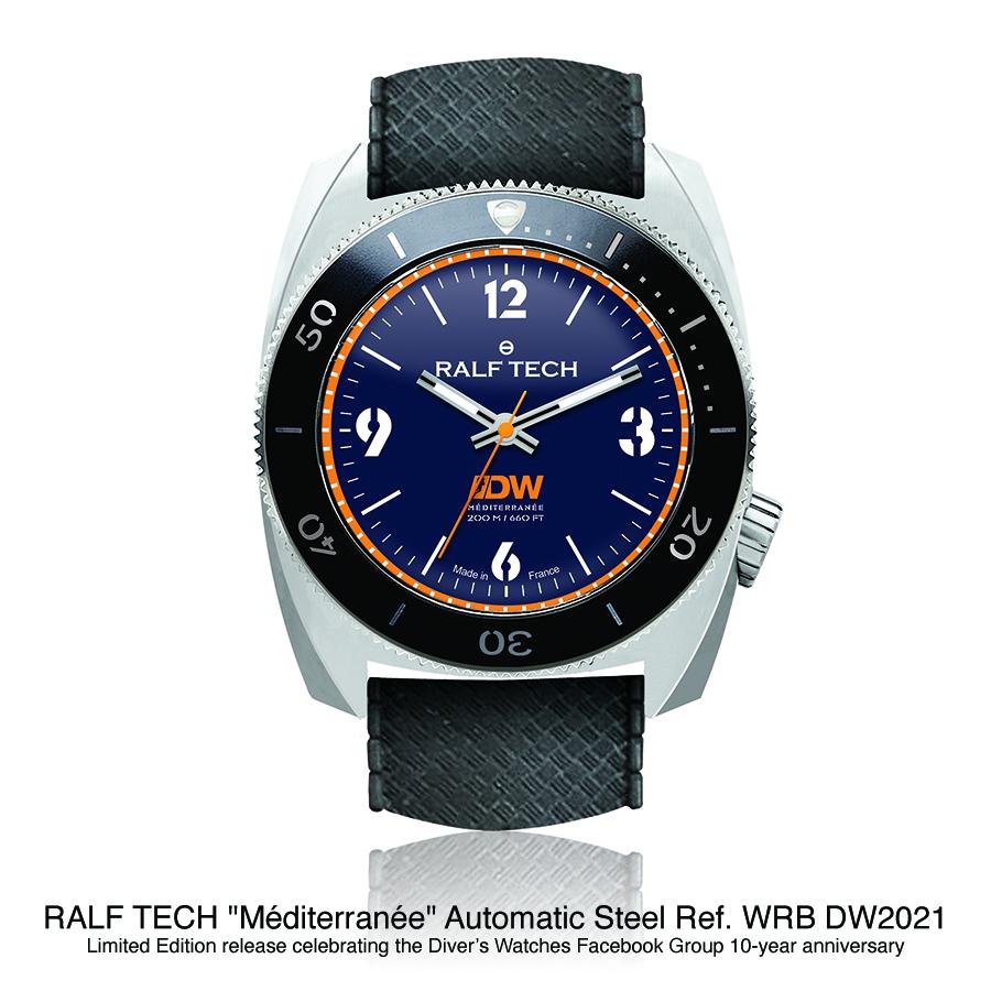 BNIB RALF TECH 'Méditerranée' LE Automatic Ref. WRB DW2021 Steel Diver Watch RTA Cal. 003