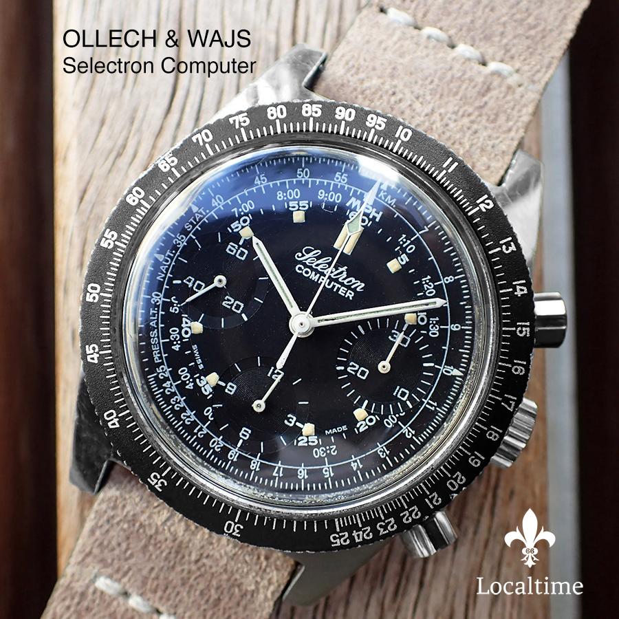 1960's OLLECH & WAJS (Zurich) Vietnam-Era 'Selectron Computer' Chronograph – Valjoux Cal. 72
