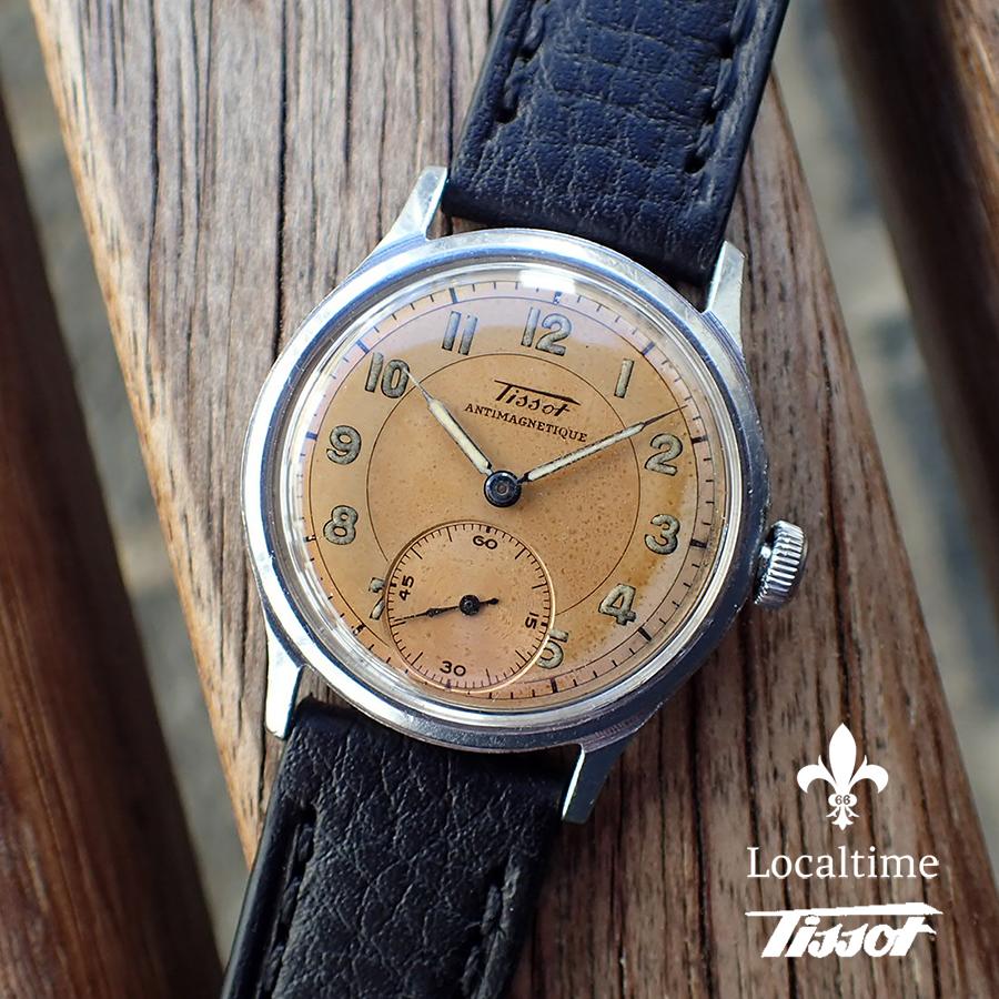 1942 Tissot (Swiss) Vintage Dress Watch Small Seconds Bronze Sector Dial SN#1286109