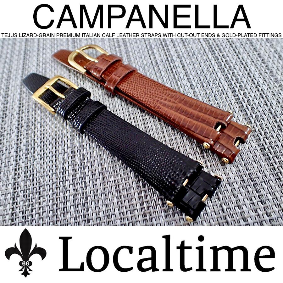 """CAMPANELLA"" Premium Italian Tejus Lizard-Grain Calf Leather Watch Straps With Cut Ends"