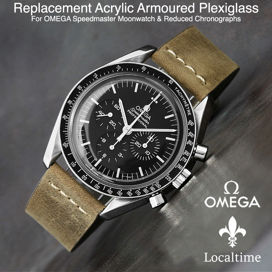 Replacement Domed Armoured Acrylic Glass For OMEGA Speedmaster Moonwatch & Reduced Chronograph Watches