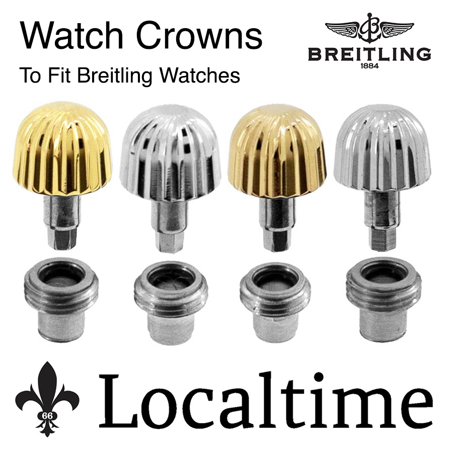 Watch CROWNS Pendant Tubes To Fit BREITLING Swiss Watches Generic Service Part