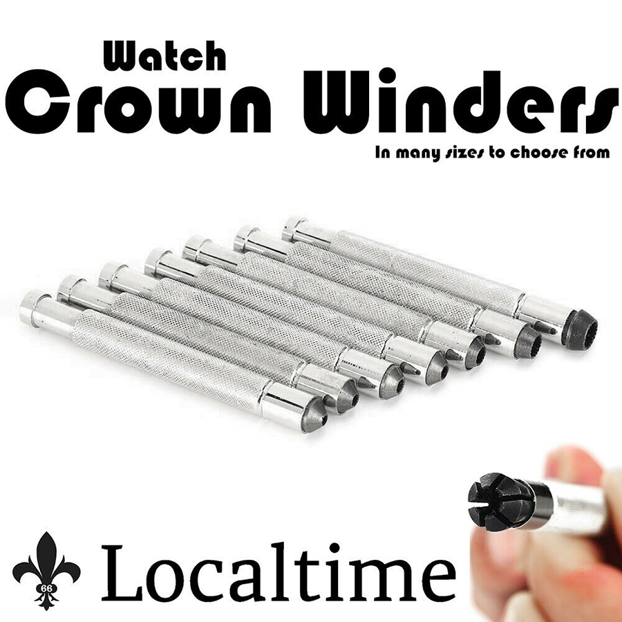 Watch Crown Winder Metal Tool For Watchmakers Collectors 3mm – 7mm Sizes