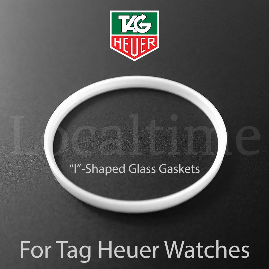 """""""I"""" Shaped Watch Service Part Glass Gaskets For TAG HEUER, 13 Sizes, Swiss Made"""