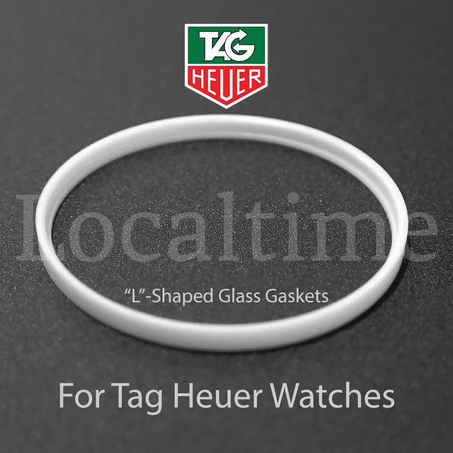 """""""L"""" Shaped Watch Service Part Glass Gaskets For TAG HEUER, 13 Sizes, Swiss Made"""