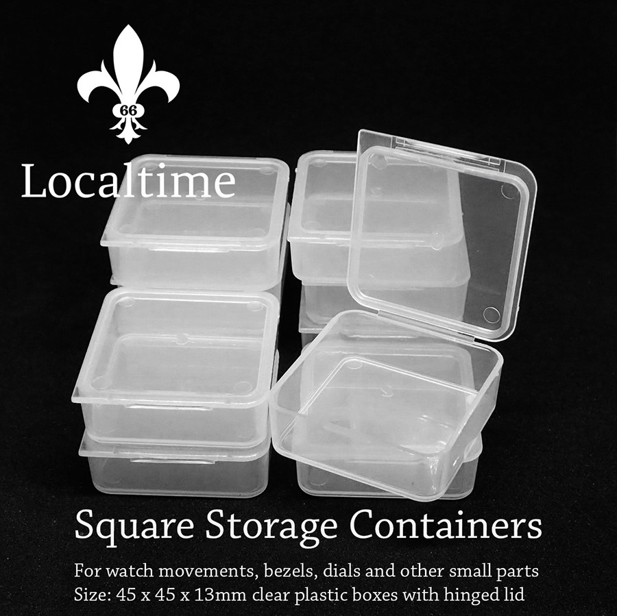 Soft Plastic Storage Container Box Watch Movement Bezel Dial Case Trinkets Small Part