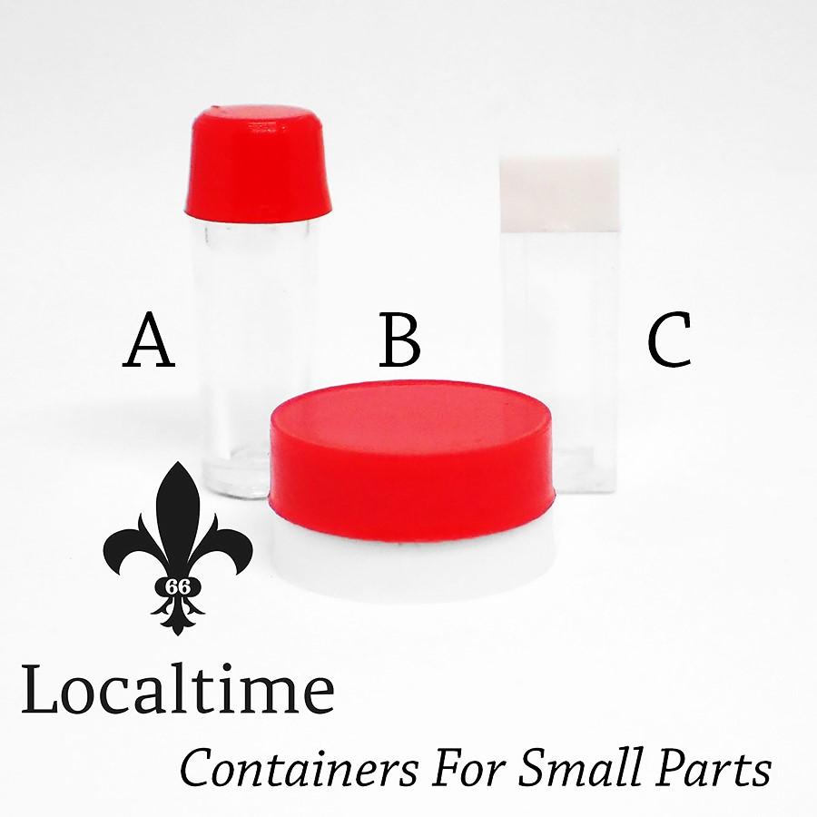 10 x Small Storage Container Box Watch Movement Parts Crowns Hands Handicraft Trinkets