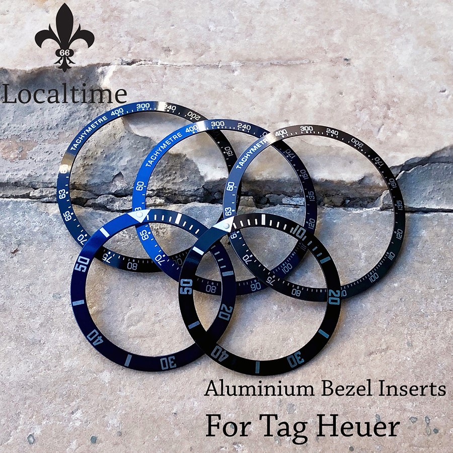 Swiss Replacement Bezel Insert For TAG HEUER Carrera & 1000 Ref. 980113 & 980020